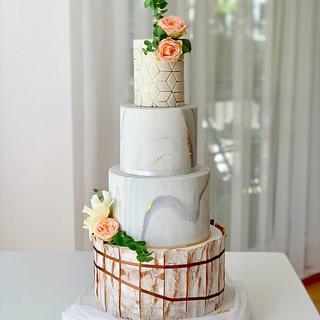 Wedding cake - Cake by SWEET architect