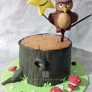 Twinkle twinkle little star Owl themed cake