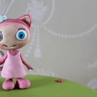 Pink Waybuloo - pipling tutorial - De Li - Cake by Zoe's Fancy Cakes