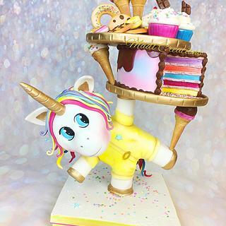 Tower cake gourmet unicorn