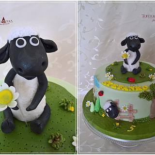 Shaun The Sheep Cake - Cake by Tortolandia