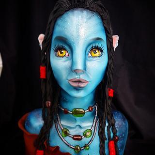Avatar bust cake