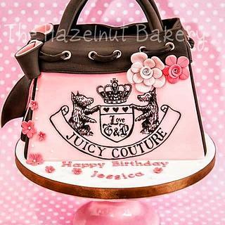 Juicy Couture Handbag Cake - Cake by HazelnutBakery