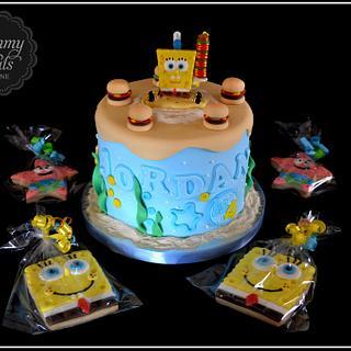 Spongebob/Humberger Cake!