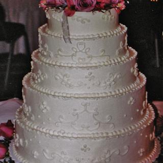Buttercream 5-tier wedding cake