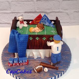 Sports team crib cake
