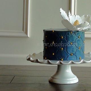 Blue Magnolia Cake