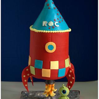 Rocket gravity cake 3D