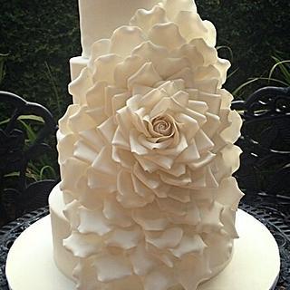 Oversized Rose Wedding Cake - Cake by Cristi