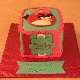 Angry bird girl cake - Cake by First Class Cakes