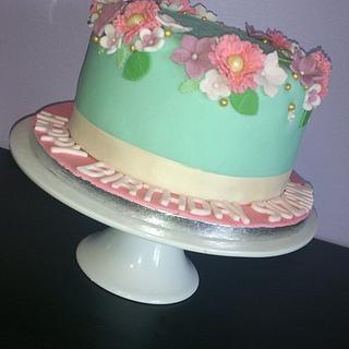 Summer Flowers Birthday Cake