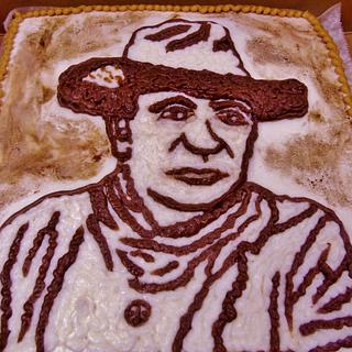 John Wayne Buttercream cake - Cake by Nancys Fancys Cakes & Catering (Nancy Goolsby)