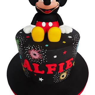 Mickey Mouse Fireworks cake