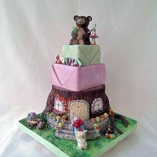 """""""Birthday in the forest"""" cake"""