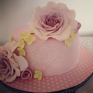 Roses and edible lace:)