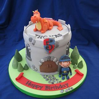 Dragon & knight cake - Cake by Deborah Cubbon (the4manxies)