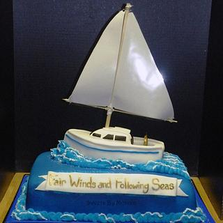Fair Winds and Following Seas - Cake by Sweets By Monica