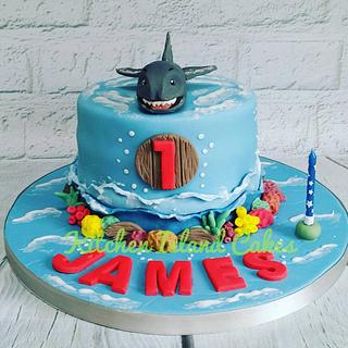 Ocean theme cake - Cake by Kitchen Island Cakes