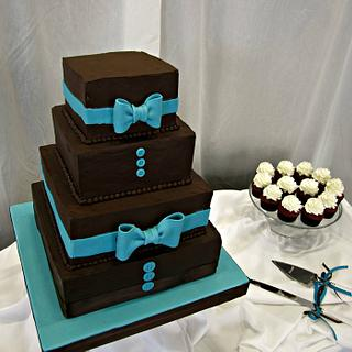 Tuxedo Inspired Wedding Cake