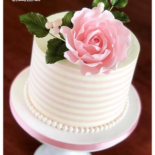 ~ Striped Buttercream Beauty ~ - Cake by Tammy LaPenta