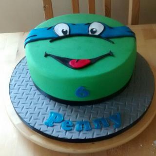 TMNT face cake