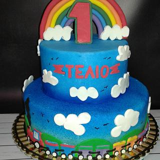 train cake  - Cake by alexialakki