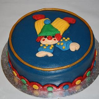 Chearful birthday clown - Cake by Roos Simbula