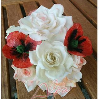 Sugar flower bouquet - Cake by Alpa Jamadar