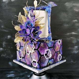 """Galaxy"" cake"