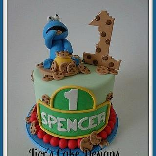 1st Birthday Cookie Monster