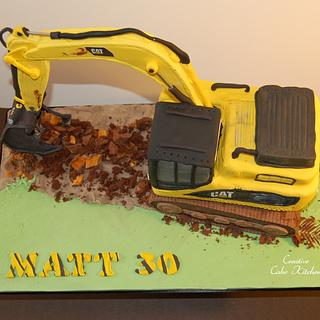 excavator/digger - Cake by CreativeCakeKitchen