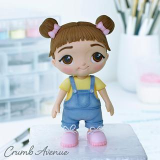 Cute Girl Cake Topper :)