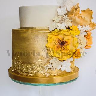 My Parents' Golden Wedding Cake