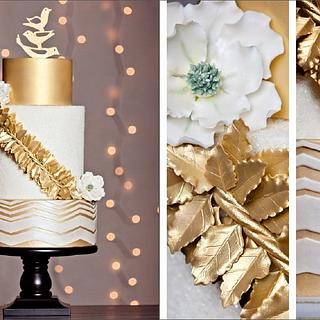 Gold Winter Wedding Theme (CakeCentral Magazine)