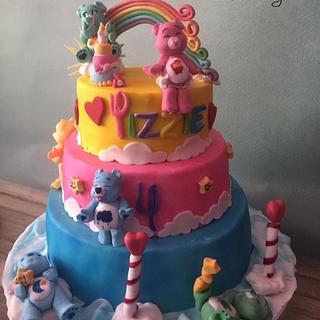 The care bears - Cake by Blueeyedcakegirl