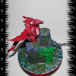 'Dragon on a Medieval Castle' - Cake by Sonal Soni