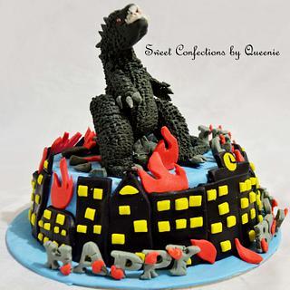 Godzilla Theme Cake