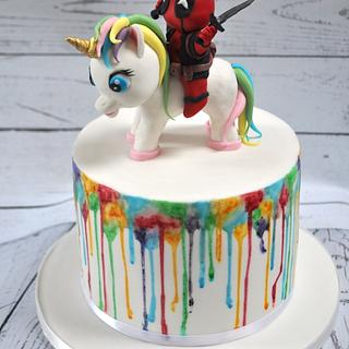 Unicorn & Deadpool cake