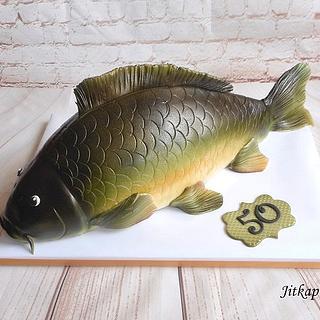 Carp cake for fishermen