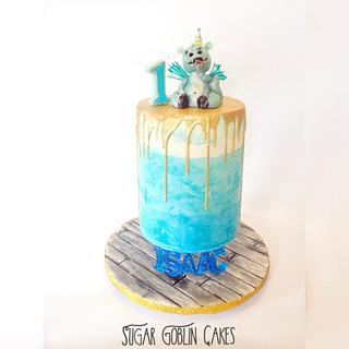 Floating Effect Dragon Cake - Cake by LJay -Sugar Goblin Cakes