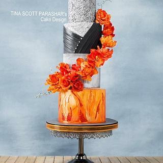 Floral Couture cake - Cake by Tina Scott Parashar's Cake Design