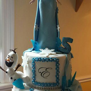Frozen Inspired Cake - Cake by Vilma