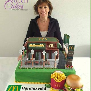 Mc Donalds cake for opening