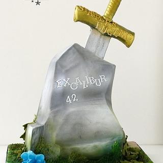 Excalibur cake