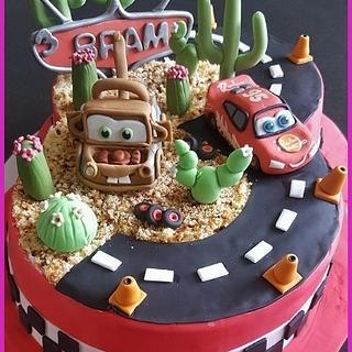 A cake full of Cars