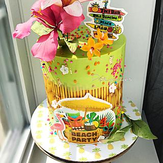 Hawaiian Wedding Shower Cake