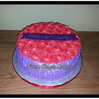 Anniversary Cake - Cake by First Class Cakes