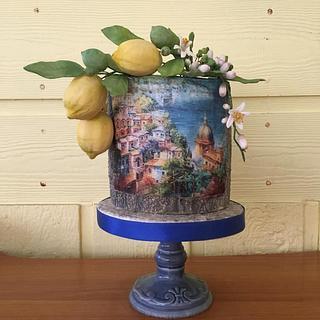 Amalfi coast inspired cake