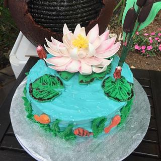 Water Lily - Cake by Julia