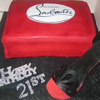 christian louboutin cake